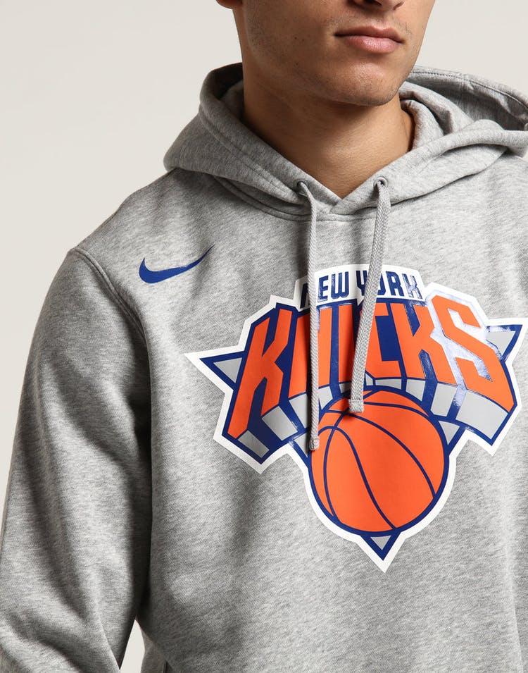 fad02b7f2f5 New York Knicks Nike Fleece Hoodie Grey Heather – Culture Kings
