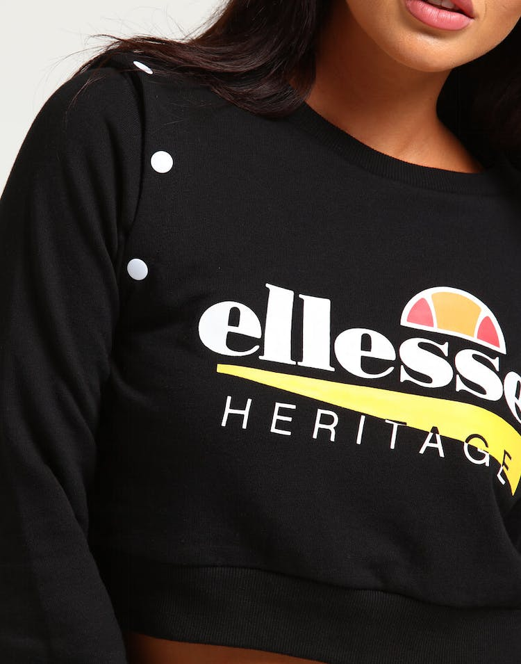 Ellesse Women's Tretino Popper Sweat Black