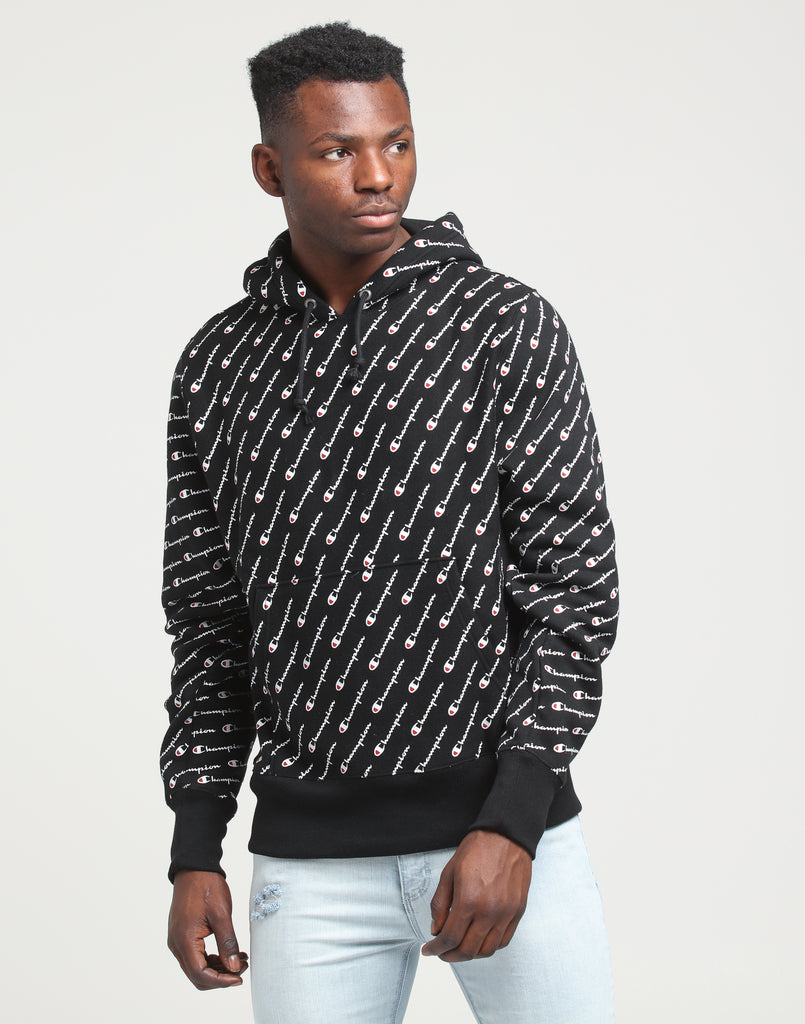 Black Champion Hoodie Weave All Reverse Over BoxdCe