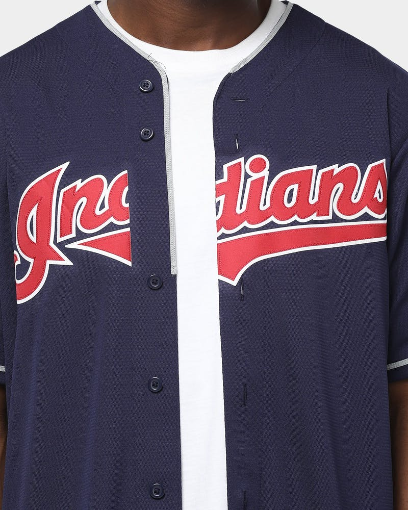 Majestic Athletic Cleveland Indians Cool Base Jersey Navy