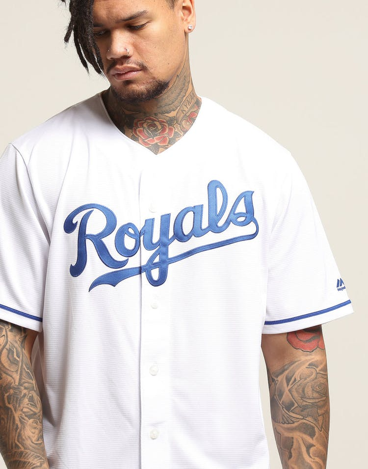 huge discount 4a5dd 9ca95 Majestic Athletic Kansas City Royals Cool Base Jersey White