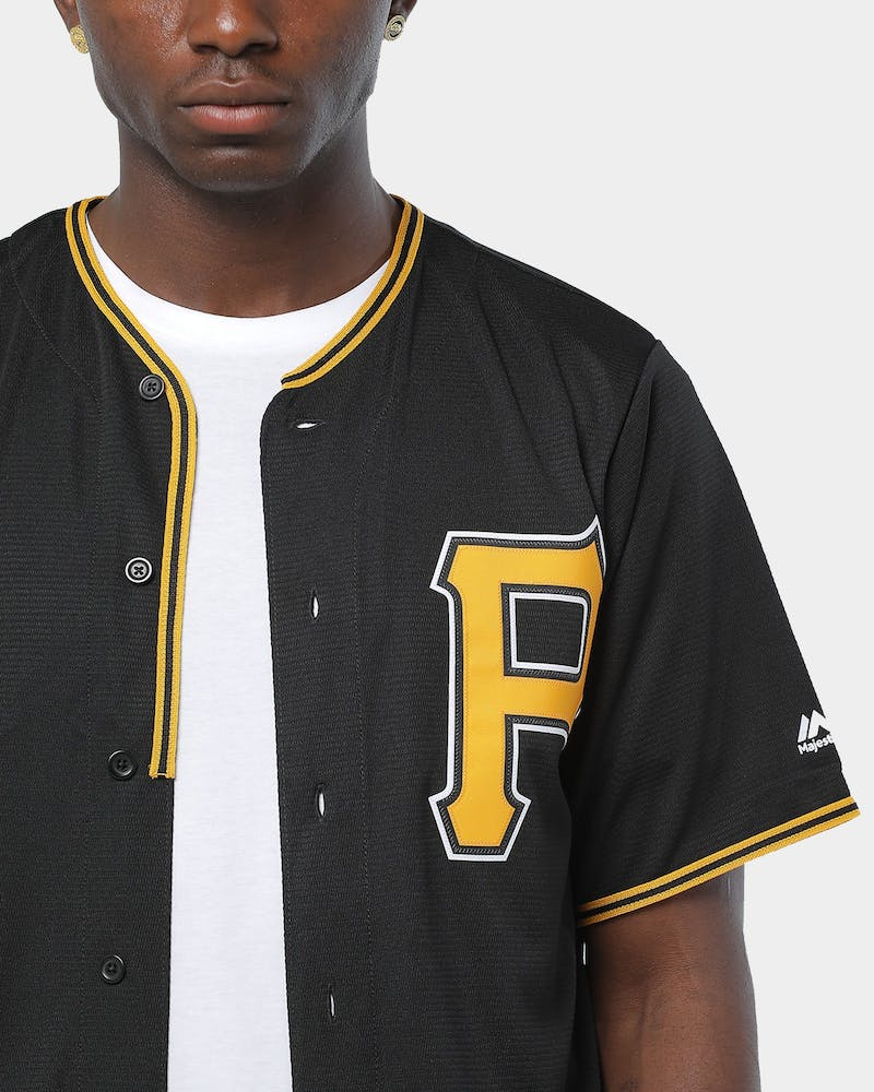 Majestic Athletic Pittsburgh Pirates Cool Base Jersey Black
