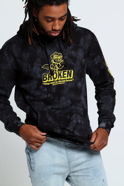 Broken Promises Evermore Tie Dye Hood Black