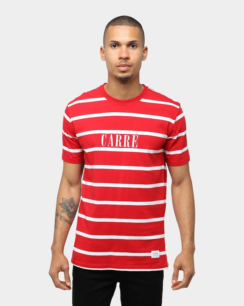 Carré Bande Classique SS Stripe Tee Red/White