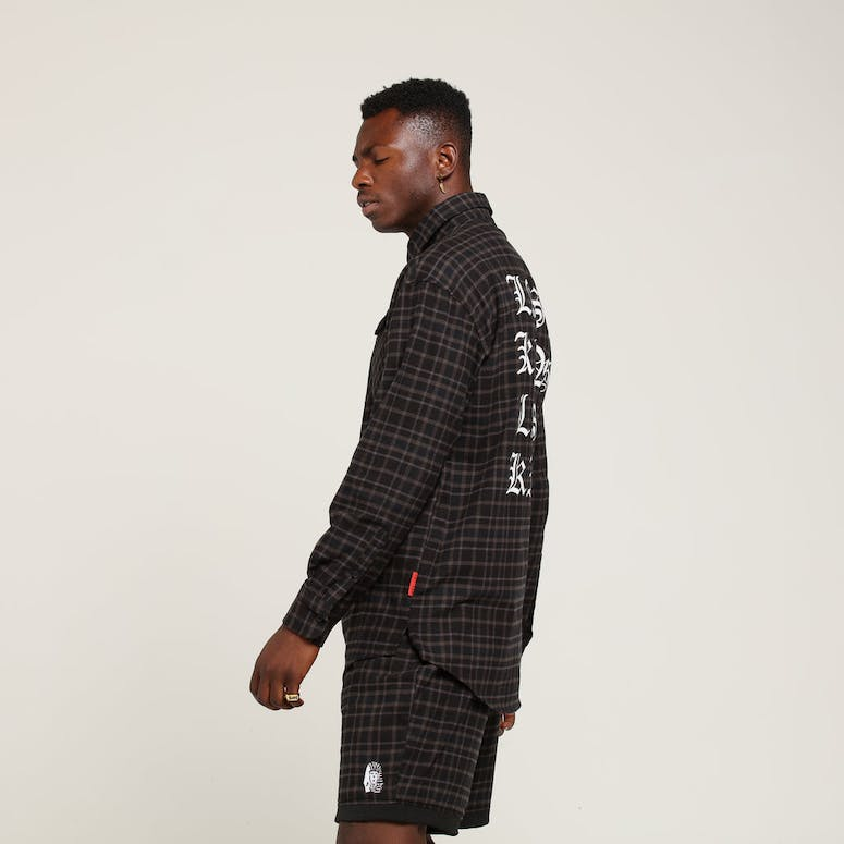 Last Kings Midnight Button Up Black