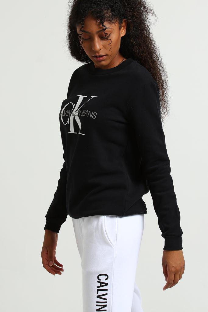 Core Monogram Sweat Klein Black Women's Calvin IH9W2eDYEb