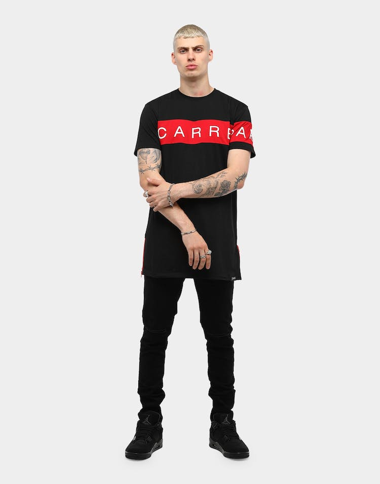 Carré Piece SS Tee Black/Red