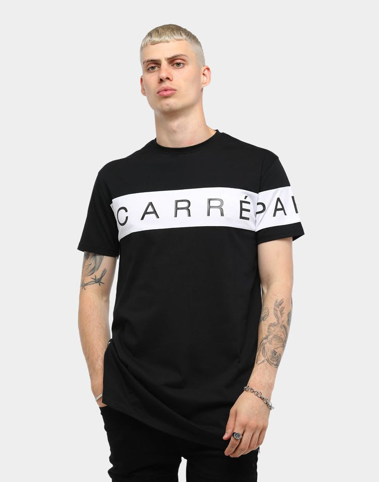 Carré Piece SS Tee Black/White