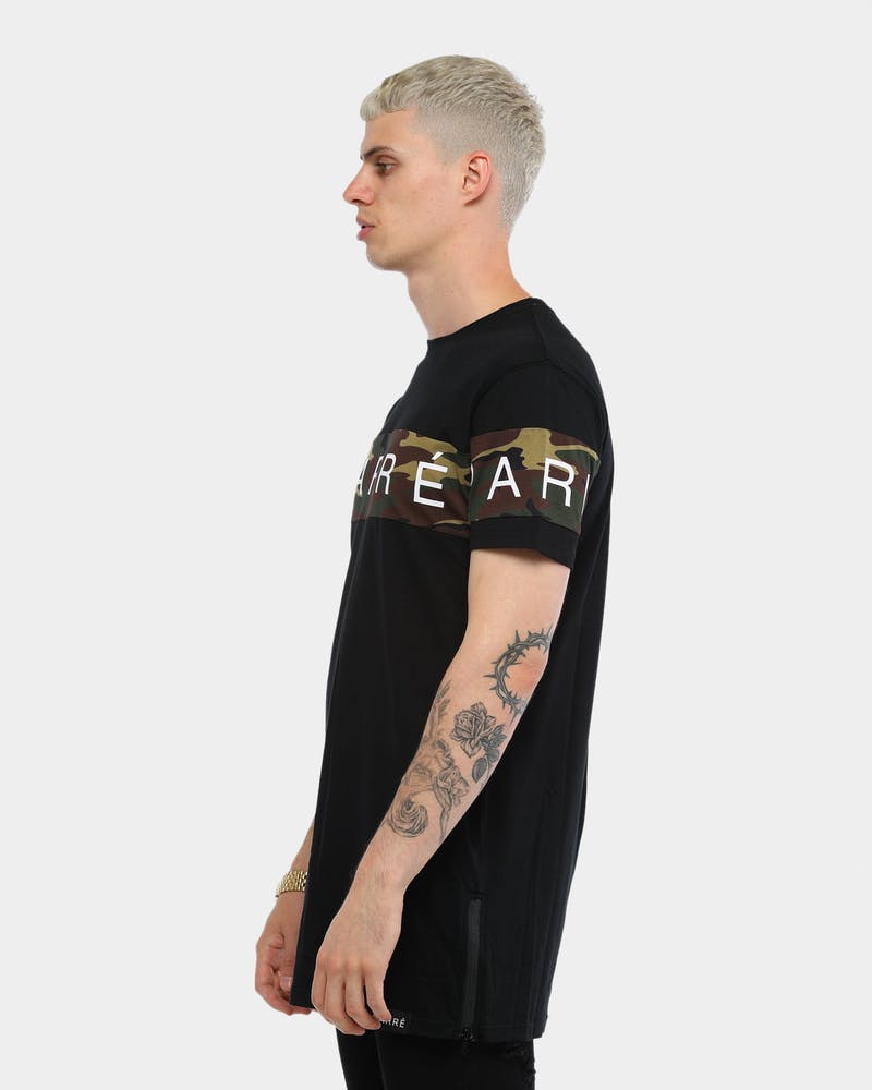 Carré Piece SS Tee Black/Camo