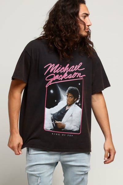 Michael Jackson King Of Pop Suit Vintage Tee Black