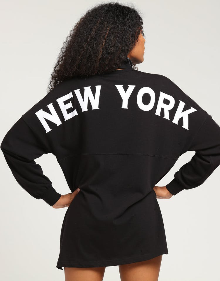 Majestic Athletic Women's New York Yankees Oversized L/S Tee Black