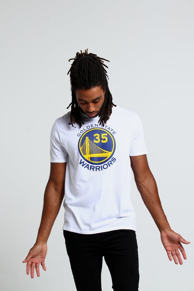Nike Golden State Warriors Kevin Durant #35 Dry Tee White