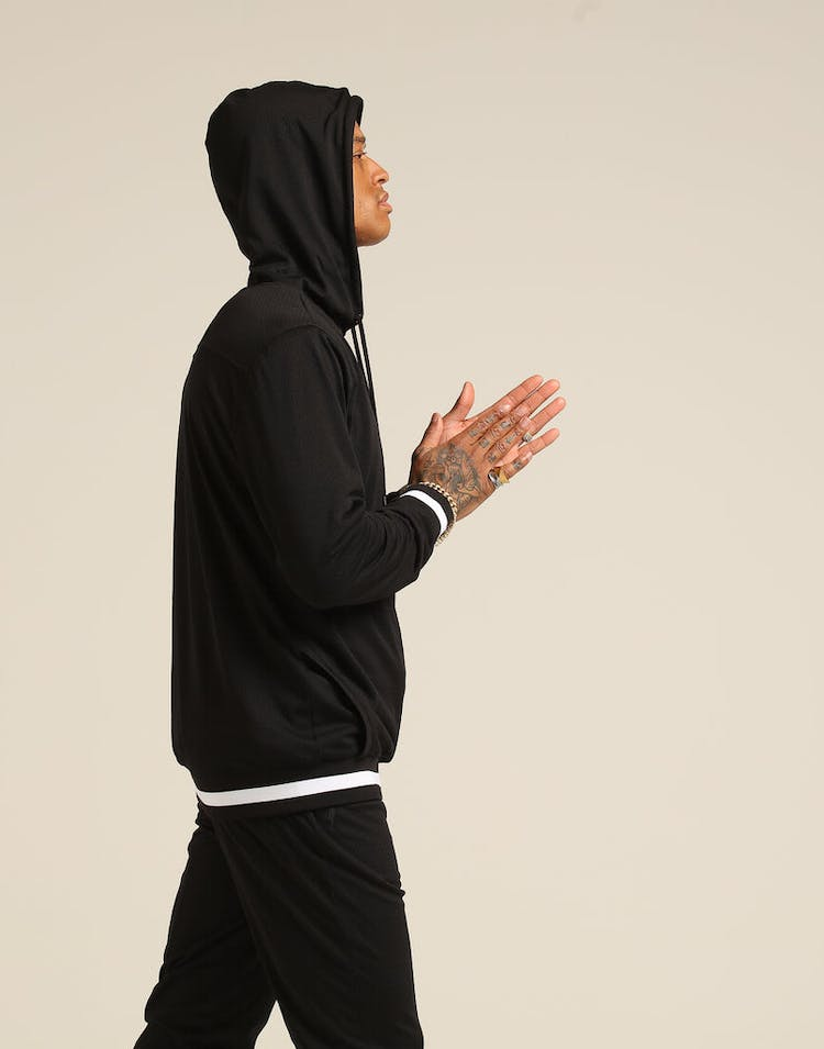 Saint Morta Mesh Basketball Hoody Black