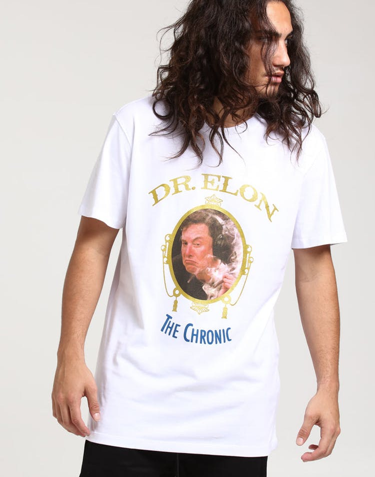 cd70a14ad71d86 Goat Crew Dr. Elon SS Tee White – Culture Kings