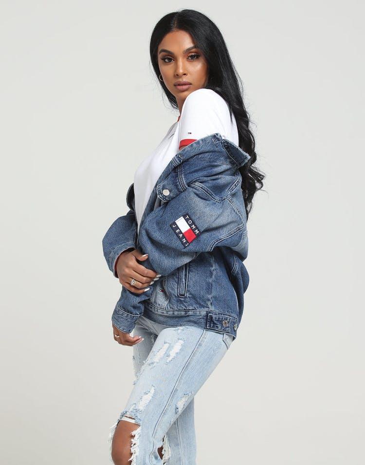 36001c4e3bc Tommy Jeans Women's TJW Oversized Trucker Jacket Blue/Denim