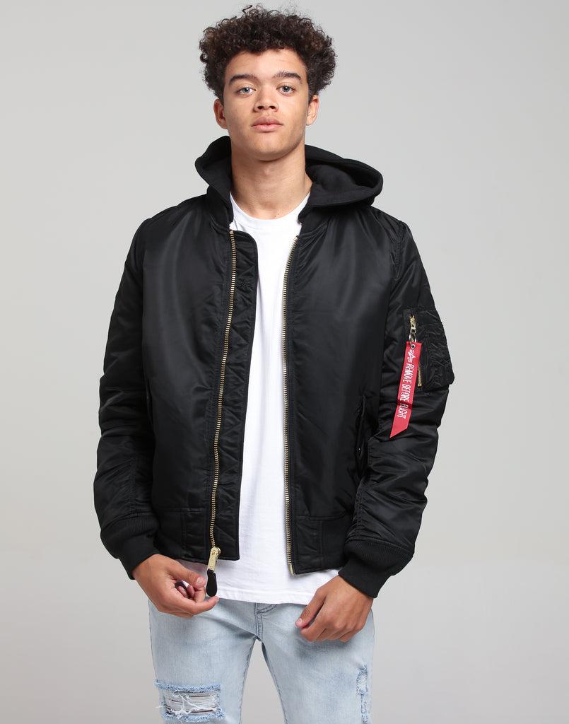Nice Alpha | MA 1 Natus Flight Jacket Black | Mens | Brand New Loot  free shipping