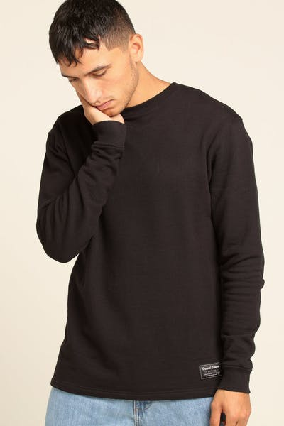 Grand Scheme Merino Wool Crew Black