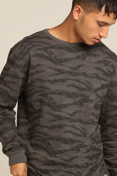 Grand Scheme Merino Wool Crew Black/Camo