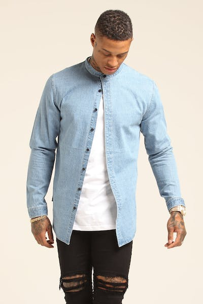 Saint Morta Kitana Denim Button Up Blue Stonewash