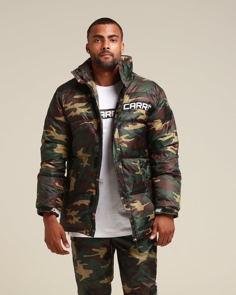 Carré Bouffee Puffer Jacket Camo