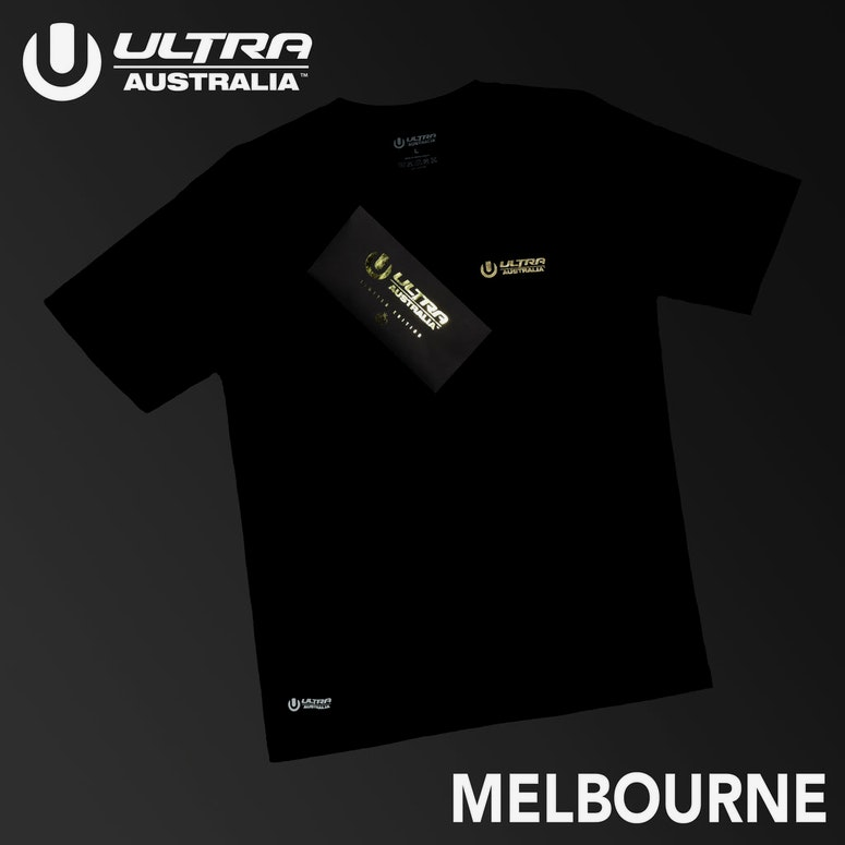 Ultra Australia Music Merch Melbourne - Tee & Ticket Combo Black