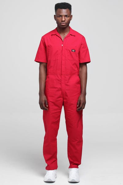Dickies 33999 Short Sleeves Coveralls Red