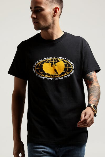 WUWEAR MERCH GLOBE TEE BLACK