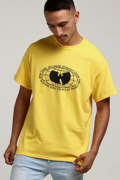 WUWEAR MERCH GLOBE TEE YELLOW