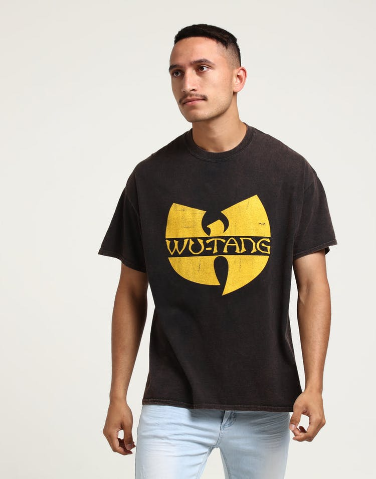 14cbefea503 Wu Tang Brand Limited WTC Logo Vintage Tee Black – Culture Kings