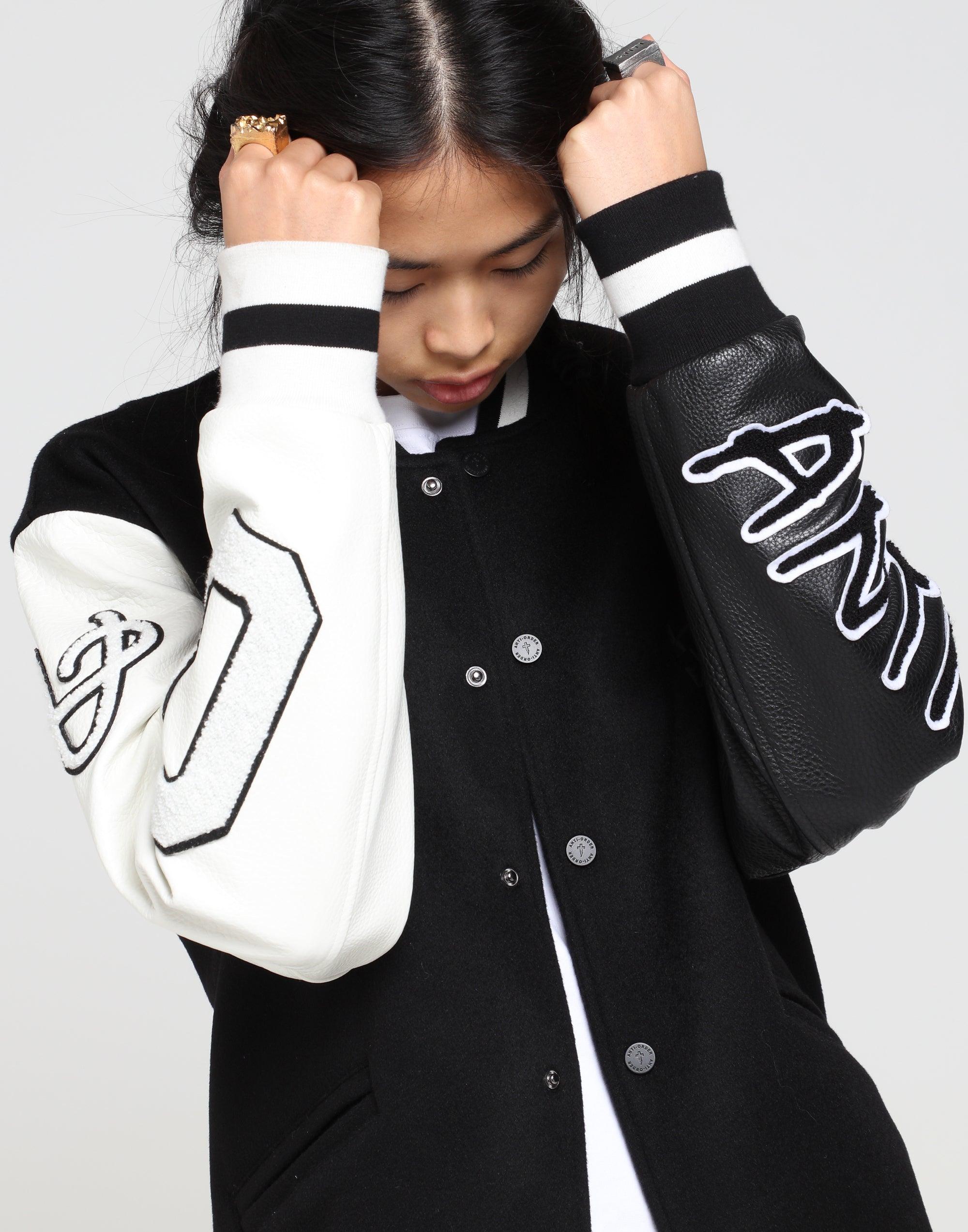 The Anti Order Year Zero Varsity Jacket BlackWhite