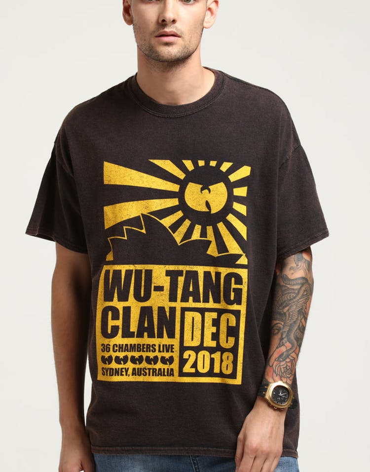 7391f0c1dec Wu Tang Brand Limited Opera House Tour Vintage Tee Black – Culture Kings