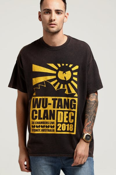Wu Tang Brand Limited Opera House Tour Vintage Tee Black