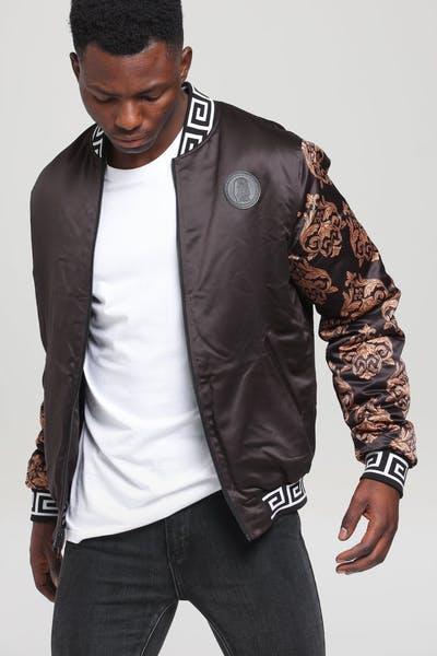 26051a4b268be Last Kings Luxe Reversible Bomber Black/Gold ...