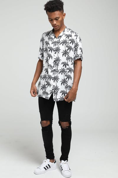 New Slaves Palm Tree Shirt Black/White