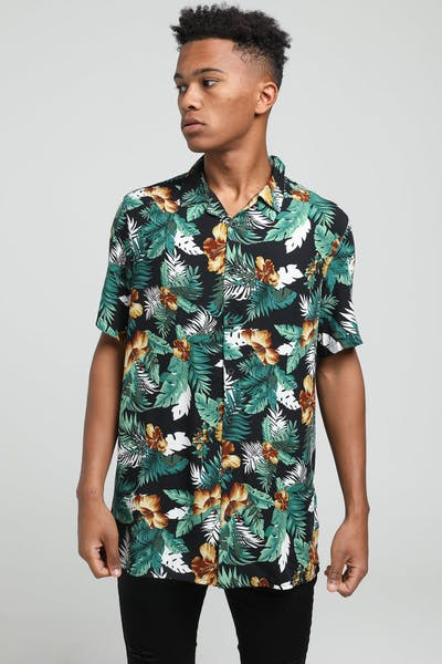 New Slaves Hibiscus Pine Shirt Multi-Coloured