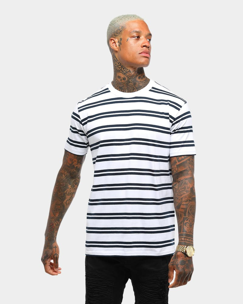AS COLOUR CLASSIC STRIPE TEE WHITE/NAVY