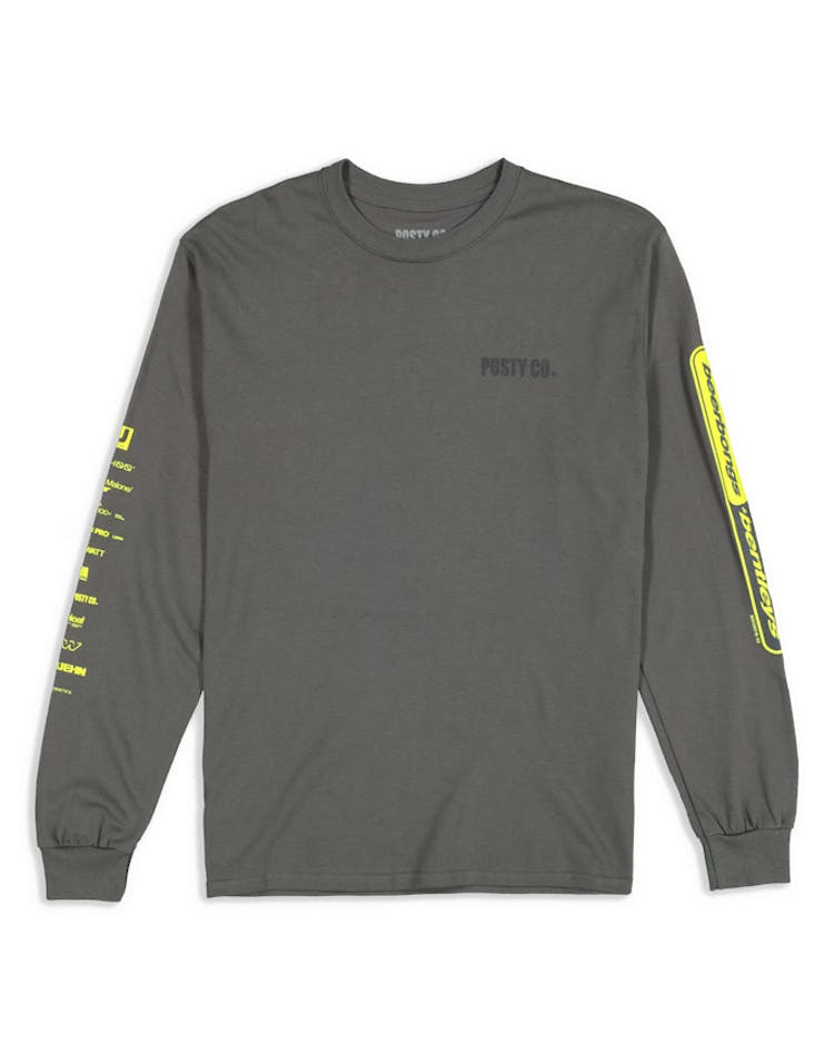 Post Malone Posty Co  Tour LS Tee Grey