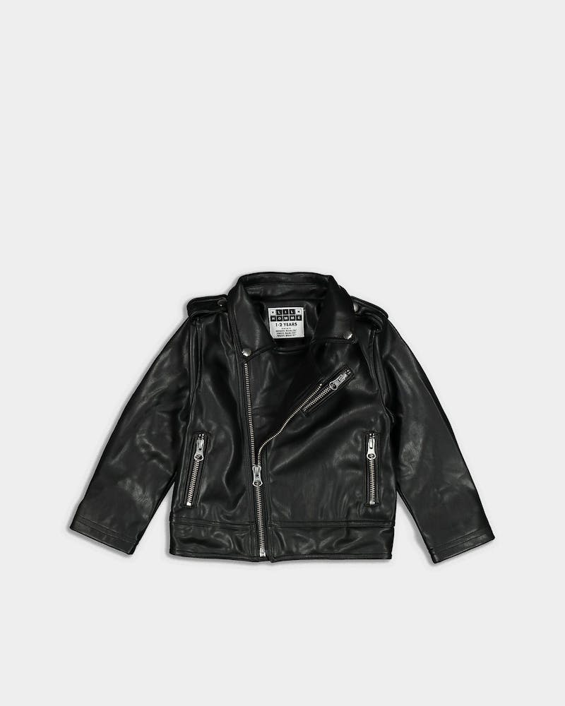 Lil Hommé Cruise PU Leather Jacket Black