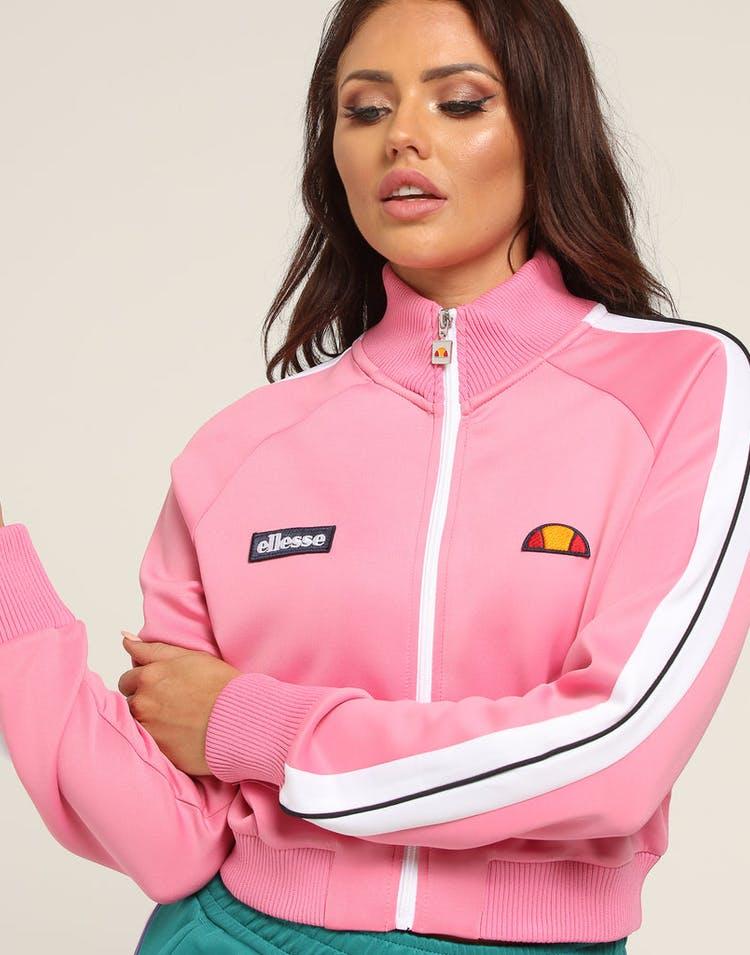 e2db98e325 Ellesse Women's Pinzo Crop Track Top Pink