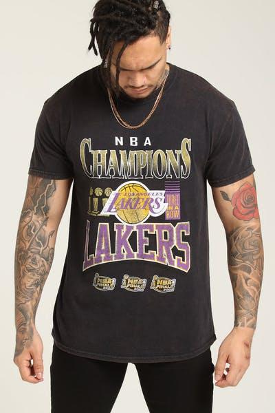 2e85fc885d7 Mitchell   Ness Kobe Bryant X Los Angeles Lakers Vintage Champ Tee Black