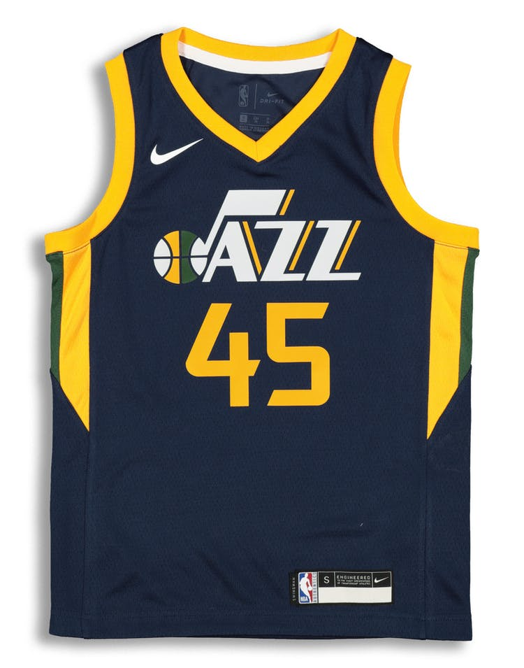 4fc24d92f Nike Kids Utah Jazz Donovan Mitchell  45 Icon Swingman NBA Jersey Navy –  Culture Kings