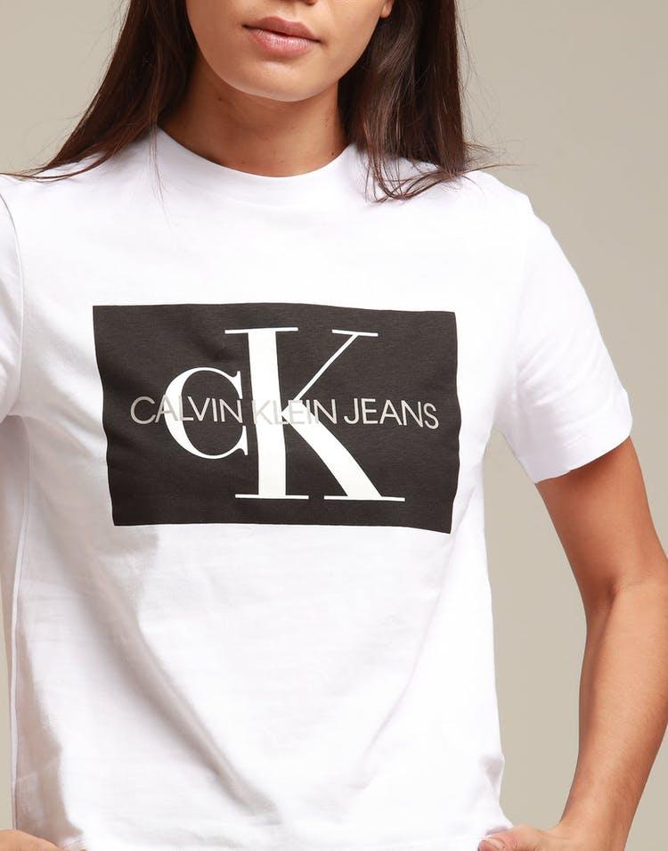 8c58e106e4a2 Calvin Klein Women's Iconic Monogram Box Straight White/Black ...