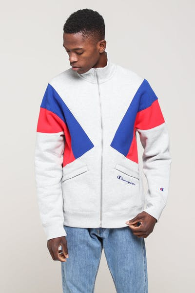 Champion Reverse Weave Colorblock TJ Grey/Surf/Scarlet