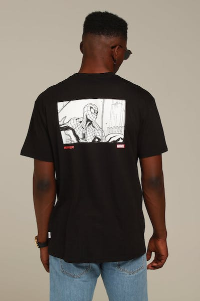 Huffer X Marvel Sup Tee/Spiderman Black