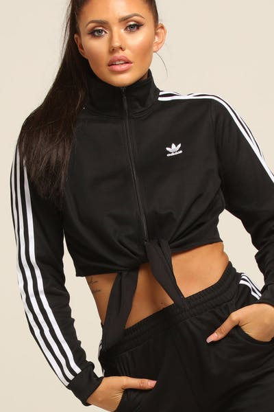 Adidas Women's Floral Tracksuit Jacket Black