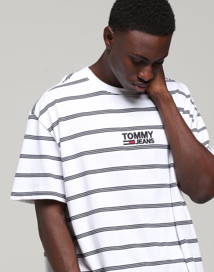 5975084b Tommy Jeans TJM Signature Stripe Tee White/Multi-Coloured – Culture ...