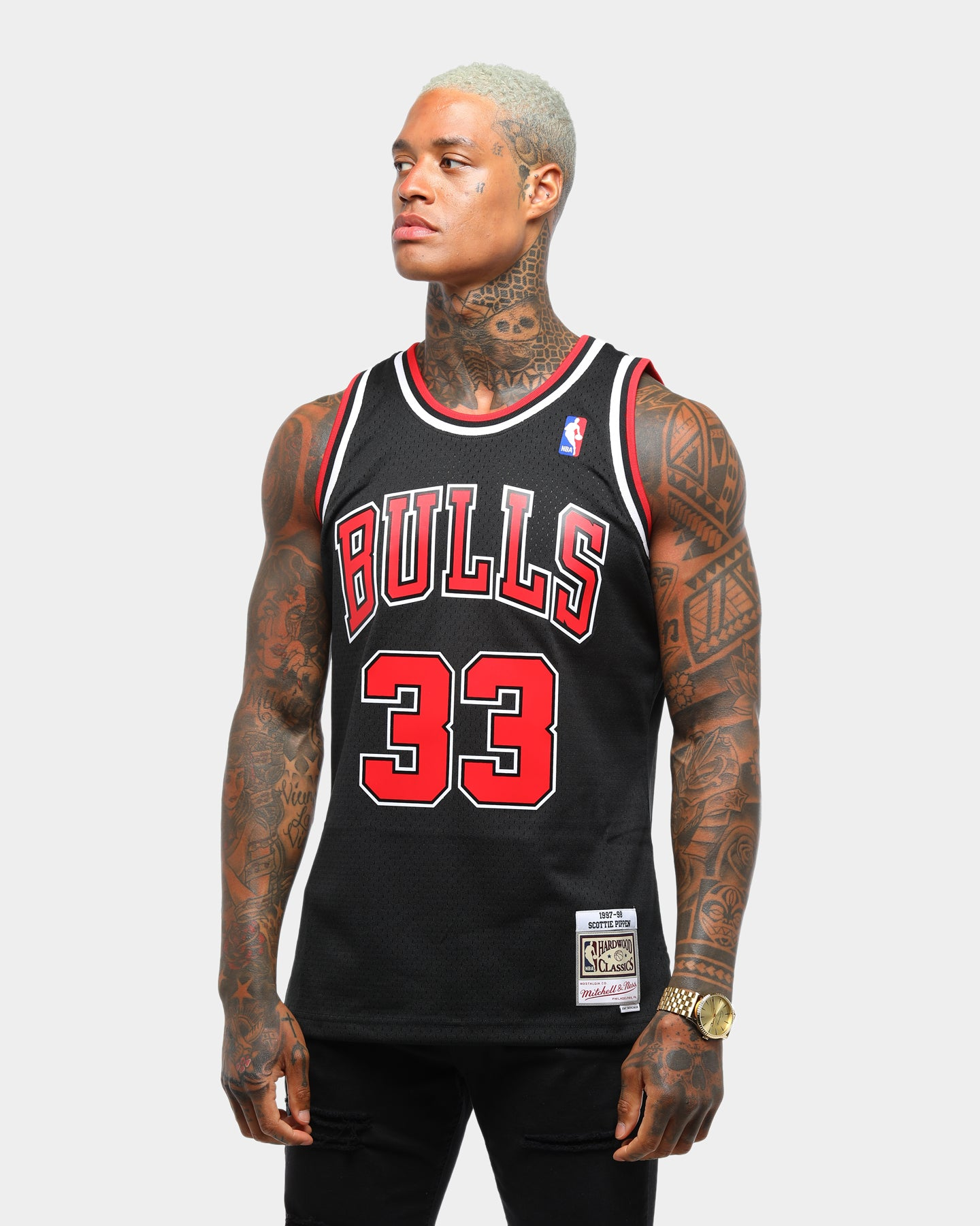Scottie Pippen #33 Chicago Bulls Vintage Throwback Swingman Jersey Black