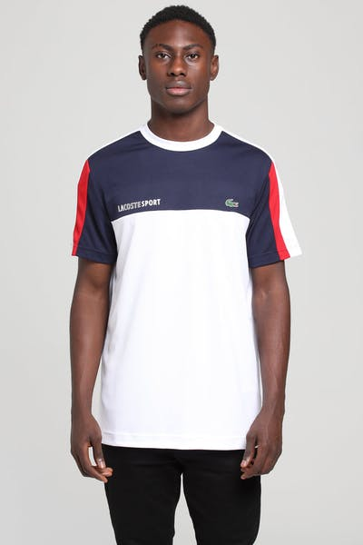 c3a6fbbfc Lacoste Colour Block Performance Tee Navy White