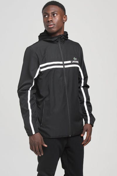 Lacoste Retro Logo Jacket Black/Black/White