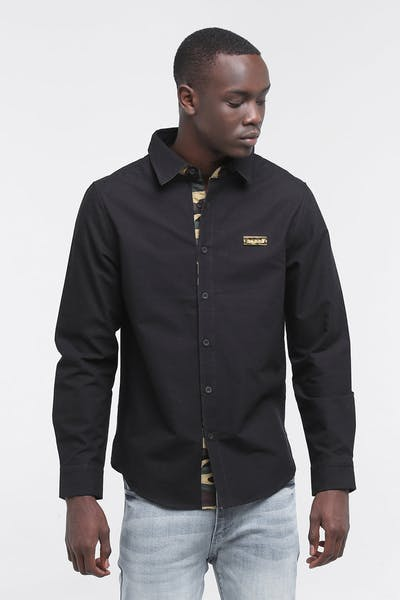 CARRÉ DIVISION LONG SLEEVE BUTTON UP BLACK/CAMO